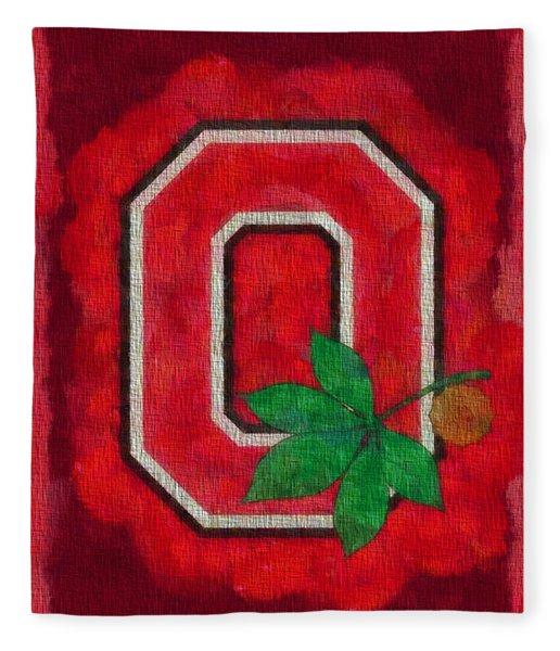 Ohio State Buckeyes On Canvas Fleece Blanket