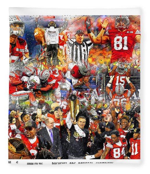 Ohio State National Champions 2015 Fleece Blanket