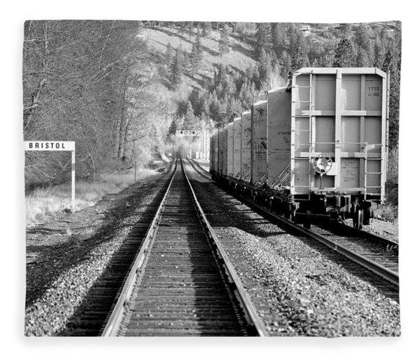 Old Bristol Rail In Ellensburg Fleece Blanket