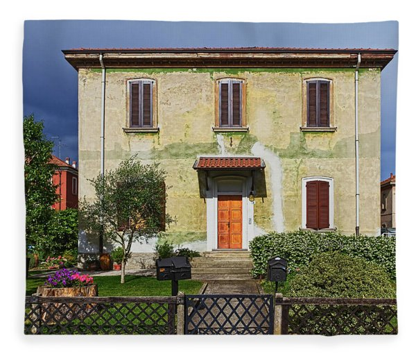 Old House In Crespi D'adda Fleece Blanket
