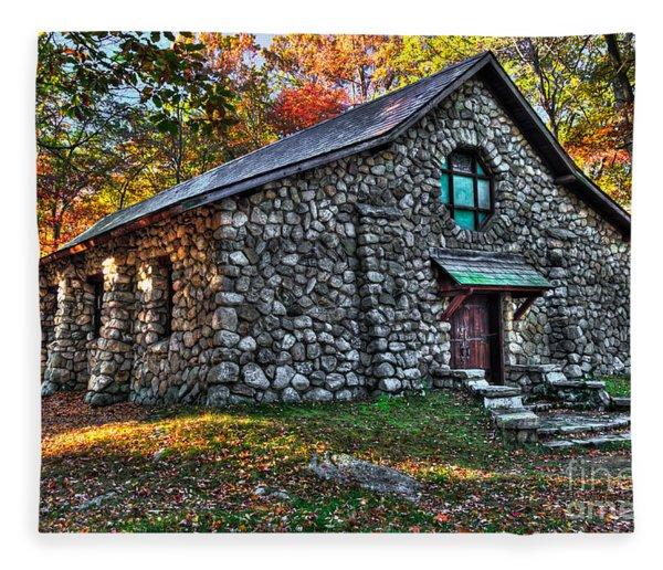 Old Stone Lodge Fleece Blanket