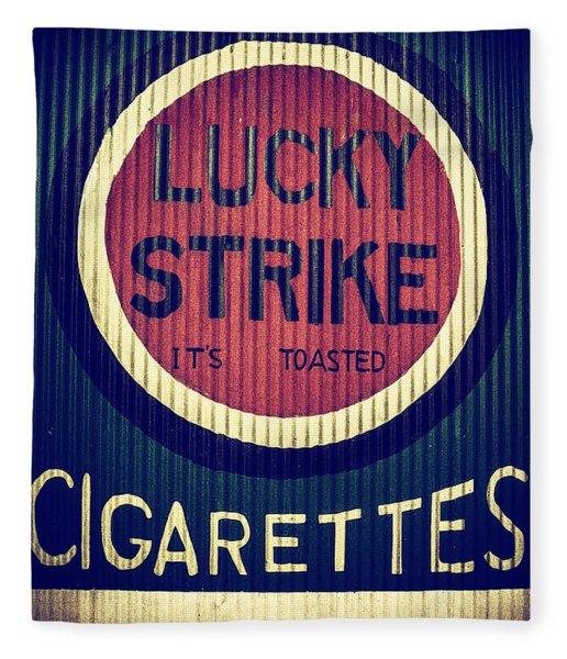 Old Time Cigarettes Fleece Blanket