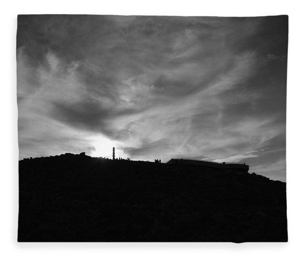 Ominous Sky Over Mt. Washington Fleece Blanket