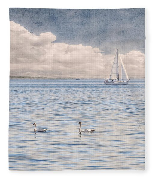 Fleece Blanket featuring the photograph On A Summer's Breeze by Garvin Hunter