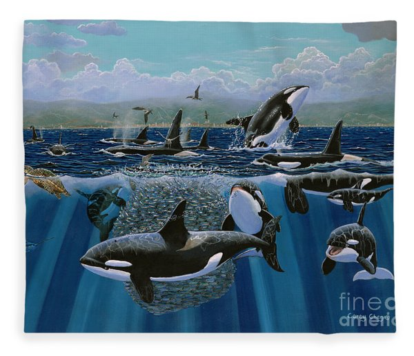 Orca Play Re009 Fleece Blanket