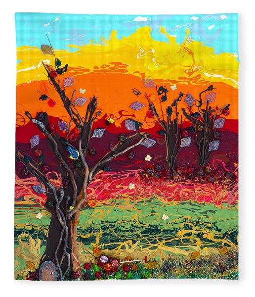 Orchard Harvest Fleece Blanket
