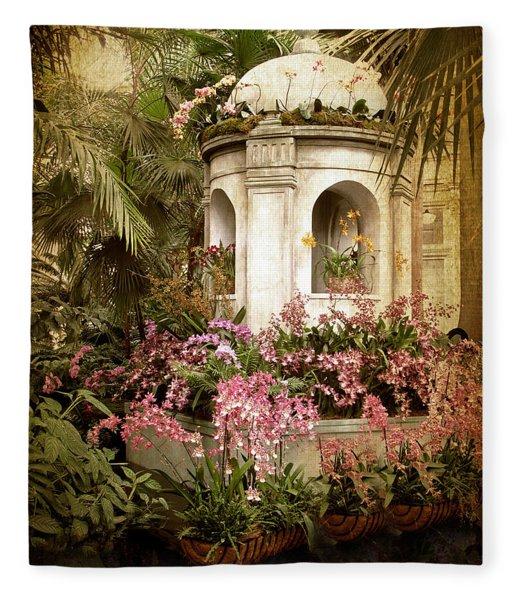 Orchid Exhibition Fleece Blanket