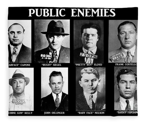 Original Gangsters - Public Enemies Fleece Blanket