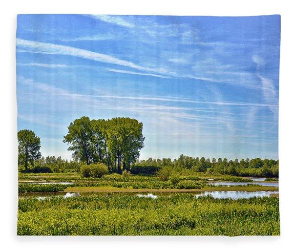 Ossenwaard Near Deventer Fleece Blanket