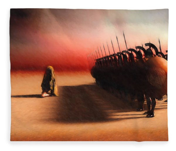 Out Of Egypt Fleece Blanket
