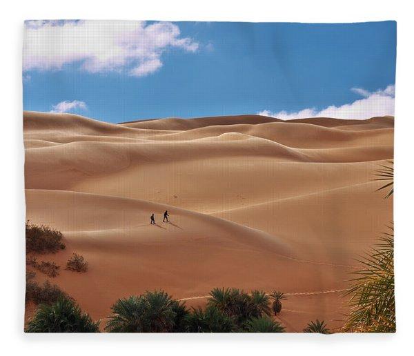 Over The Dunes Fleece Blanket