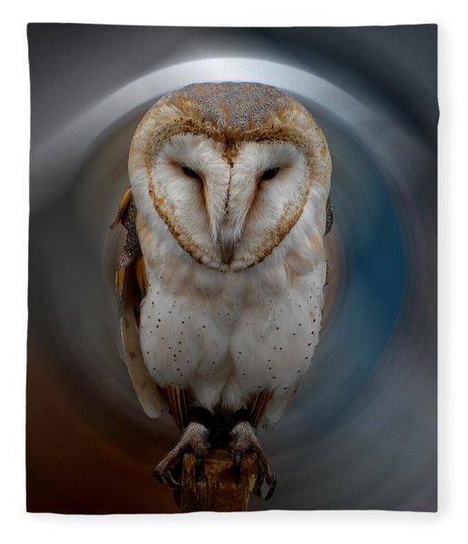 Fleece Blanket featuring the photograph Owl Alba  Spain  by Colette V Hera  Guggenheim