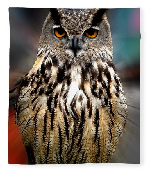 Fleece Blanket featuring the photograph Owl Living In The Spanish Mountains by Colette V Hera  Guggenheim