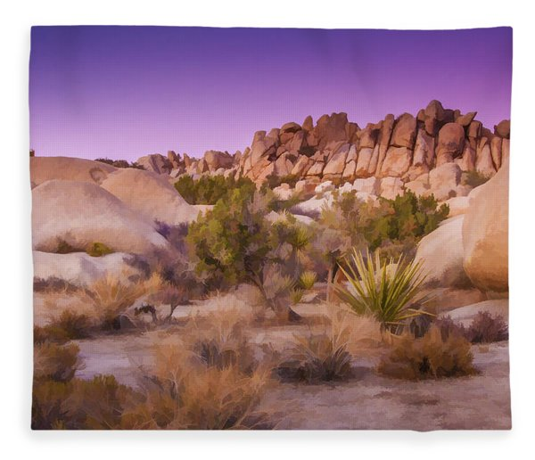 Painterly Desert Fleece Blanket