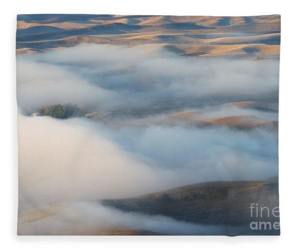 Palouse Morning Mist Fleece Blanket