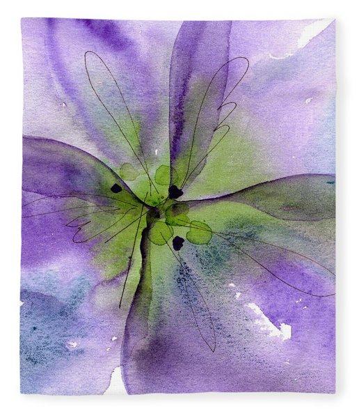 Pansy 1 Fleece Blanket