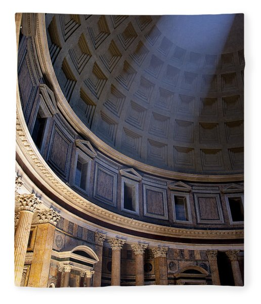 Fleece Blanket featuring the photograph Pantheon Interior by Brian Jannsen