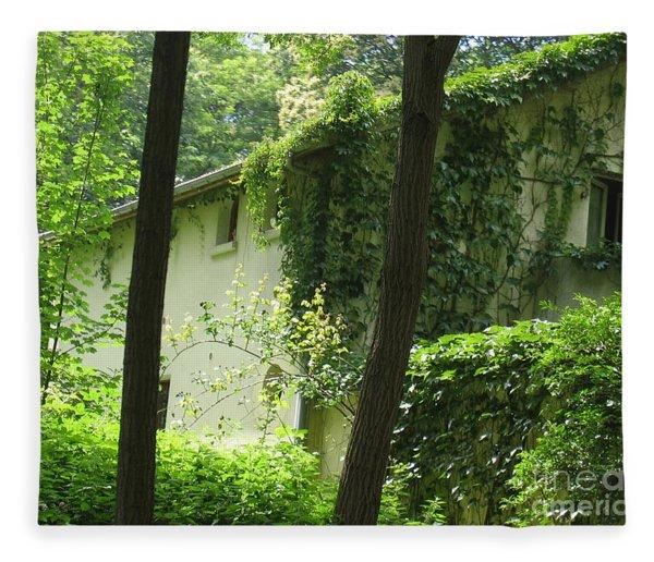 Paris - Green House Fleece Blanket