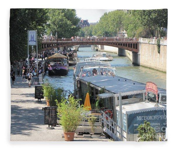 Paris - Seine Scene Fleece Blanket