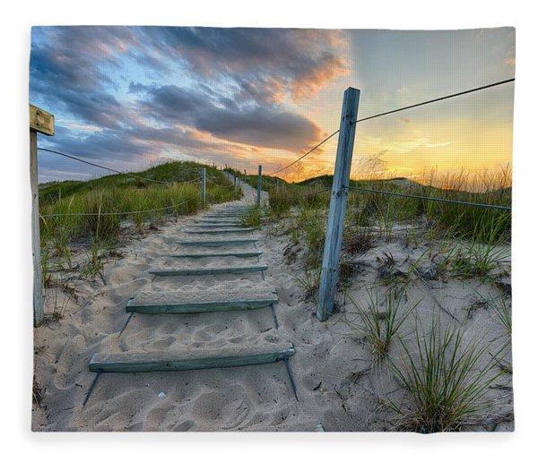 Path Over The Dunes Fleece Blanket