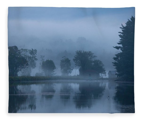 Peaceful Blue Fleece Blanket