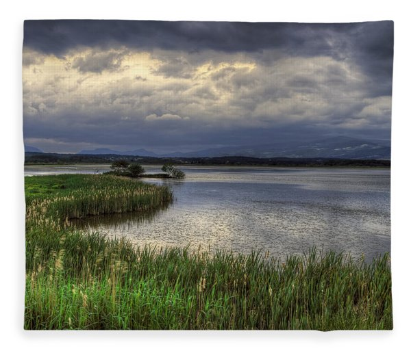 Peaceful Evening At The Lake Fleece Blanket