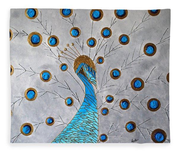 Peacock And Its Beauty Fleece Blanket