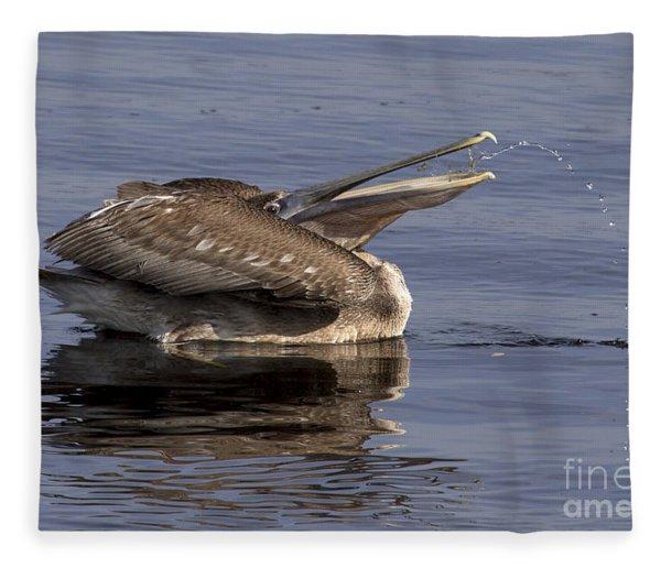 Pelican Fountain  Fleece Blanket