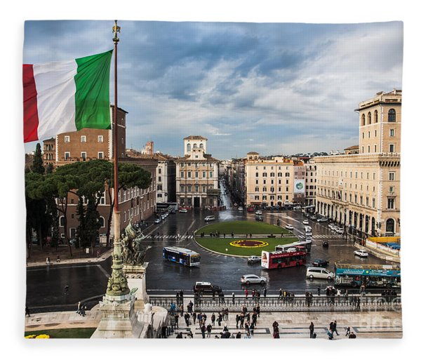 Piazza Venezia Fleece Blanket