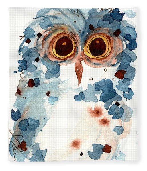Pier 1 Owl Fleece Blanket