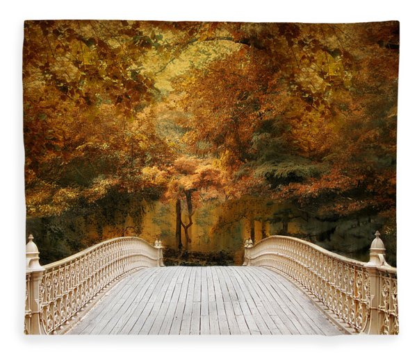 Pine Bank Autumn Fleece Blanket