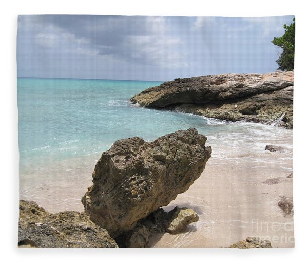 Plum Bay - St. Martin Fleece Blanket
