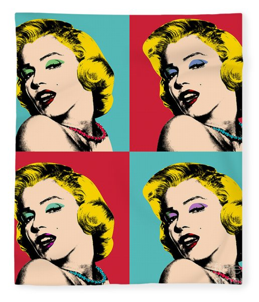 Pop Art Collage  Fleece Blanket