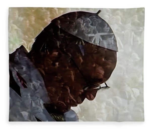 Fleece Blanket featuring the photograph Pope Francis Inauguration Vatican 19 February 2013  by Colette V Hera  Guggenheim