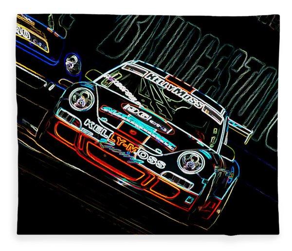 Porsche 911 Racing Fleece Blanket
