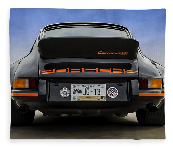 Porsche Carrera Rsr Fleece Blanket