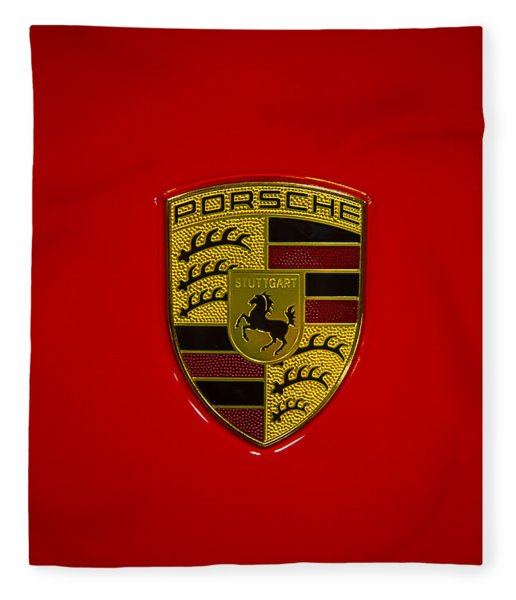 Porsche Emblem Red Hood Fleece Blanket