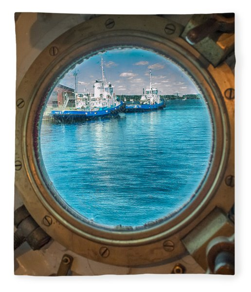 Fleece Blanket featuring the photograph Hmcs Haida Porthole  by Garvin Hunter
