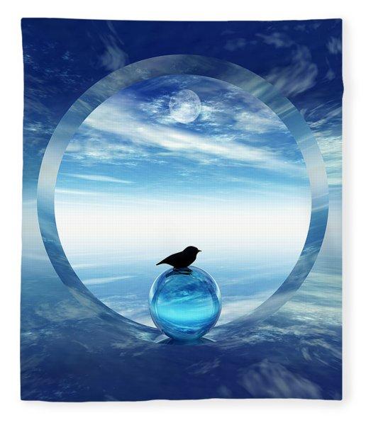 Portal To Peace Fleece Blanket