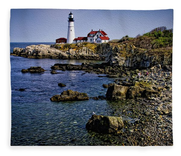Portland Headlight 37 Oil Fleece Blanket