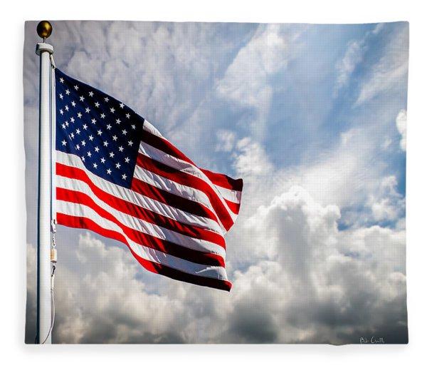 Portrait Of The United States Of America Flag Fleece Blanket
