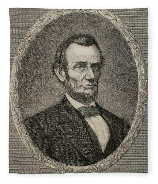 President Abraham Lincoln Fleece Blanket