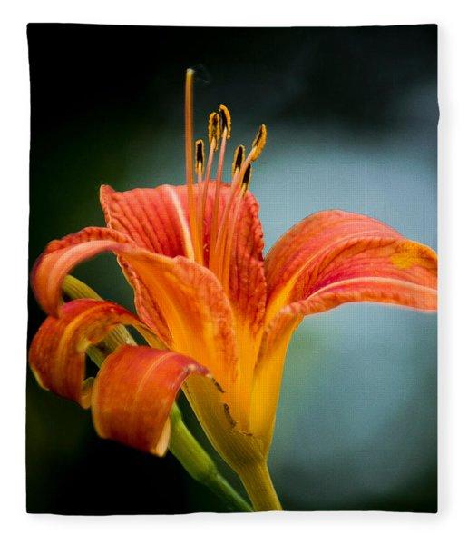 Pretty Flower Fleece Blanket