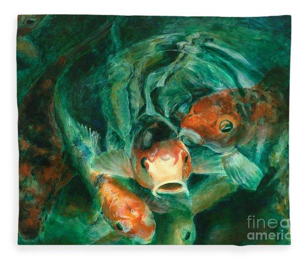 Prosperity Koi Fleece Blanket