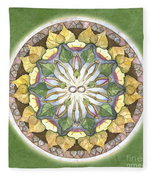 Prosperity Mandala Fleece Blanket
