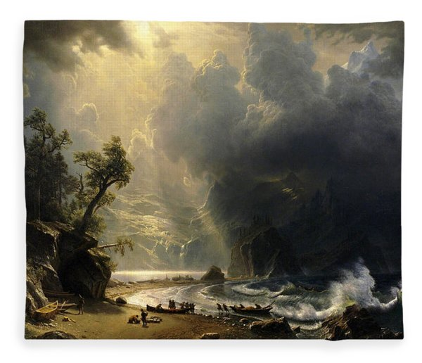 Puget Sound On The Pacific Coast Fleece Blanket