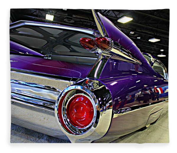 Purple Kustom Kadillac Fleece Blanket
