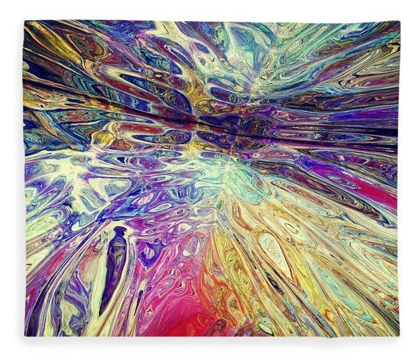 Fleece Blanket featuring the digital art Purple Pepper Trip 022215 by Matt Lindley