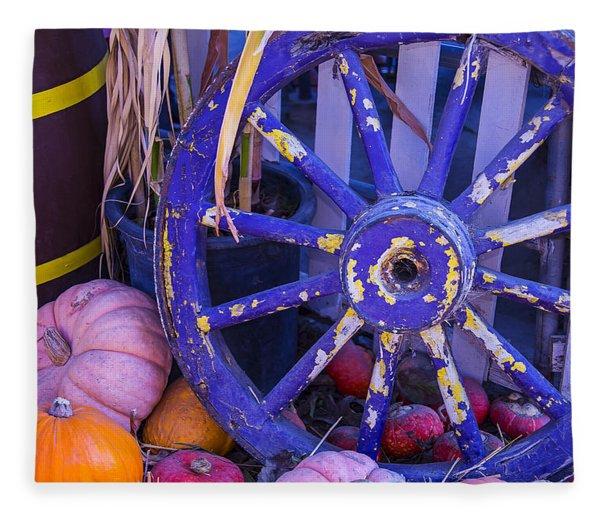 Purple Wagon Wheel Fleece Blanket