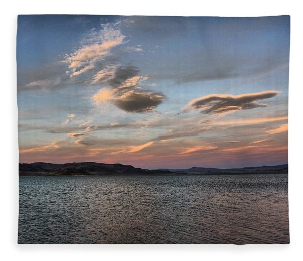 Pyramid Lake Fleece Blanket